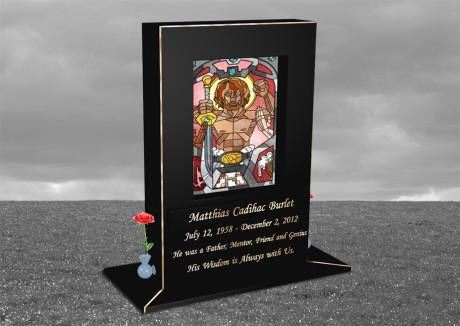 Upright-Headstone-BW-Background-1B