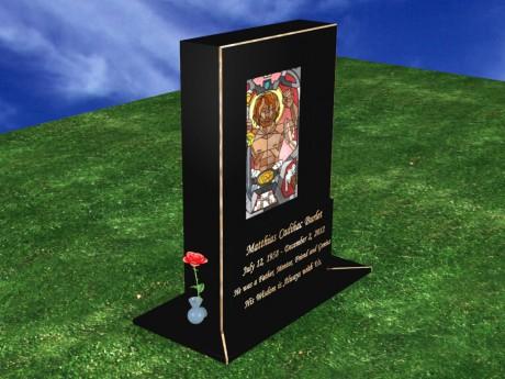 Upright-Headstone-Onyx-Midnight-Black-Enoch-1024-2